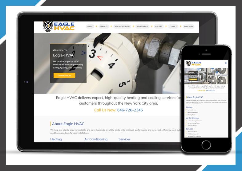 Eagle HVAC – Designer Nik | WordPress Websites & Graphic Design